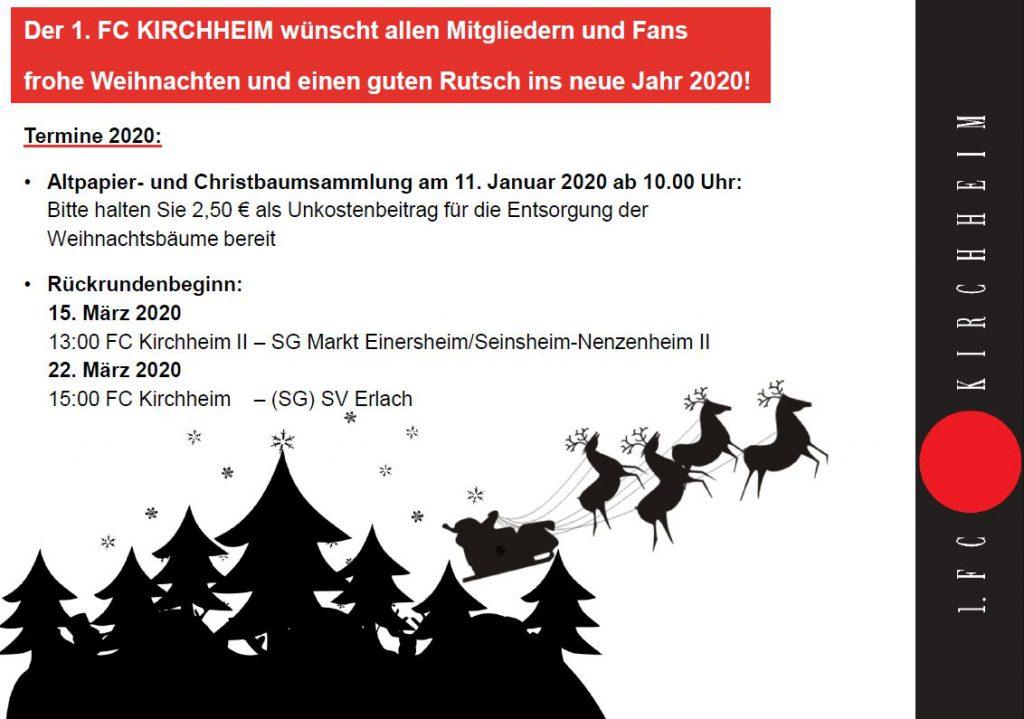 Weihnachtsgrüße des 1. FCK